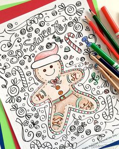 10 Holiday Coloring Pages and Books | www.dawnnicoledesigns.com