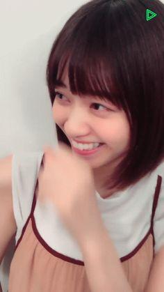 【LINE LIVE あさひなぐ】乃木坂46西野七瀬「チュッ」gif   生駒ちゃんねる