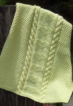 Free Knitting Pattern for Love Is a Blanket
