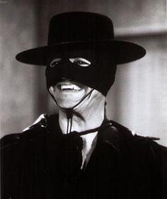 """As Zorro in """"Zorro and Son."""""""