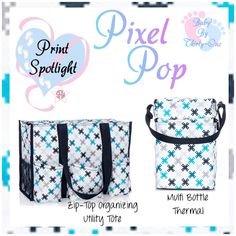 Pixel Pop Baby product spotlight by print.  Graphic for Facebook VIP group.  Thirty-One spring/summer 2018 www.mythirtyone.ca/sabrinawhite