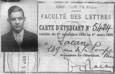 J. Lacan, carnet de estudiante de la Universidad
