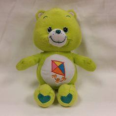 "Care Bears Do Your Best Lime Green 11"" Teddy Bear Plush Kite 2003 Stuffed Animal #CareBears #AllOccasion"