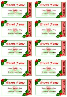 Concert Ticket Template Free Printable Custom Annette Barrett Abarrett1456 On Pinterest