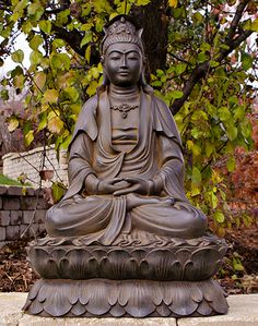 Seated Kuan Yin Garden Statue   Best Sellers For Spring