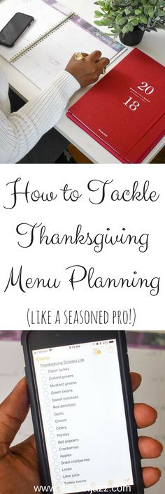 Tips for successfully tackling Thanksgiving menu planning like a seasoned hostess with the mostest! Tutorial by Dash of Jazz and sponsored by AT-A-GLANCE planners. #MyAAG #IC #ad via @dashofjazzblog