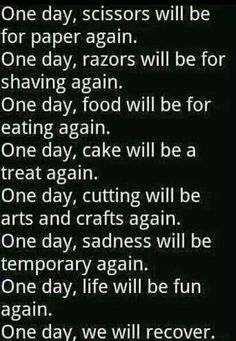 One day we WILL recover.