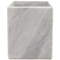 $68 Luna Marble Wastebasket