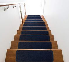 No INSTALLATION No GLUE Thick Plush Shaggy Rubber Backed Non Slip Skid Stair Tread Sets Washable Pet Friendly by Remnaz on Etsy Bed Steps, Stair Steps, Slippery Stairs, Stair Tread Covers, Step Treads, Carpet Stair Treads, Hardwood Tile, Granite Stone, Easy Home Decor