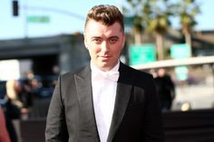 Sam Smith arrives at the 57th Annual GRAMMY Awards on Feb. 8 in Los Angeles