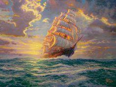 """""""Courageous Voyage"""" ©Thomas Kinkade"""