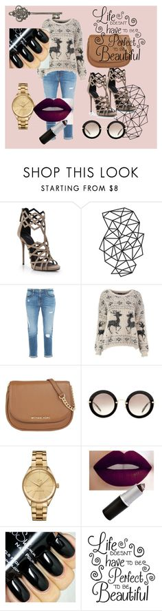 """Life doesn't have to be perfect"" by dzenita-219 on Polyvore featuring Giuseppe Zanotti, Frame Denim, MICHAEL Michael Kors, Miu Miu and Lacoste"