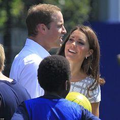 Sweet moment between Kate & Wills