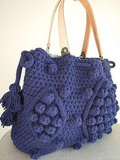 un superbe sac avec le tutoriel ....    (with tutorial) ... Crochet.