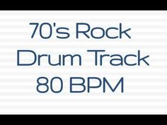 70's Rock Groove Drum Beat to Jam With 80 BPM