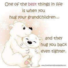 Hugging a grandchild