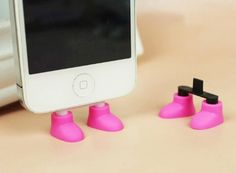 Amazon.com: ZOEAST Creative 2 in 1 Cute 8 Colors Shoes iPhone Stand Data Port Dust Plug Smart Phone Shoes Dust Stopper Dustproof Charm iPhon...
