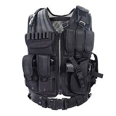 #9: YAKEDA Army fans Tactical Vest CS Field Outdoor Equipment Supplies Breathable lightweight tactical vest SWAT Tactical Vest Special Forces combat training vestVT-1063(black) This belongs to top selling products in Luggage  category in Canada. Click below to see its Availability and Price in YOUR country.