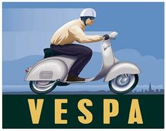 It's Not a Scooter, It's a Vespa :: Wesley Treat's Roadside Resort