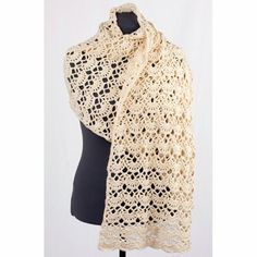 Cascade Yarns DK131 Cotton Rich Lacey Arches Stole (Free) in Free Crochet Patterns at Webs