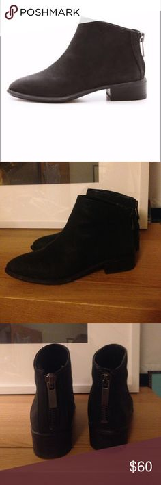 Dolce Vita Mylene Booties Sz 6 Dolce Vita Mylene Booties. Size 6. Textured Charcoal Black Leather. Back zipper. Worn Twice w. Wear only on Soles. Dolce Vita Shoes Ankle Boots & Booties