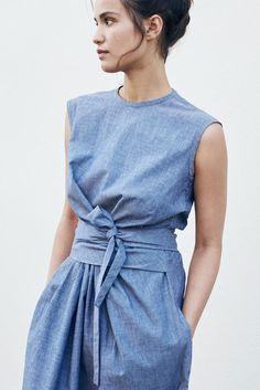 9c1db667e05c79 ASAYO Dress - Roxane Baines – Official website. LinenMe · Linen Fashion · Sky  Blue Pinstripe Linen Dress Layla ...