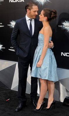 Tom Hardy - Charlotte Riley.  Look at the way he looks at her! He's head over heels and I just can't seem to dislike her! She's is soooo freaking lucky!
