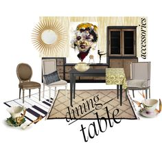 """""""Dining table"""" by ikdea on Polyvore"""