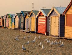 Looks like Brighton Beach Melbourne to me ... wish I was there - oh wait - i'm not far away :)