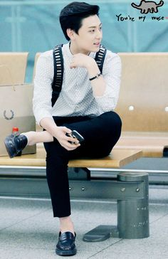 """nuestalwaysandforever: """"  {140806} Minhyun @ Incheon Airport © MUSE 