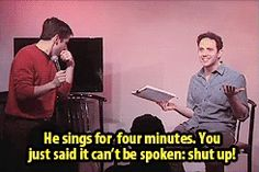 Santino Fontana on why Empty Chairs at Empty Tables should end on the first line =)