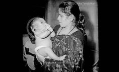 Sachin Tendulkar with his mother at the Age of 2