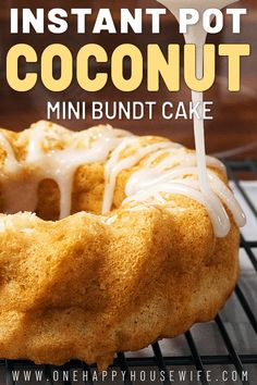 This Instant Pot coconut cake is to die for. So delicious! #instantpot #bundtcake #cake #dessert #coconut via @onehappyhousewife