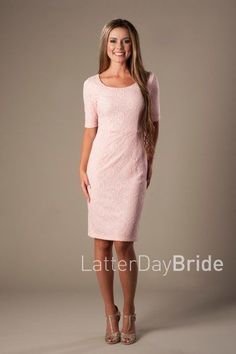 modest bridesmaids dresses at LatterDayBride, MDS 1611 in blush