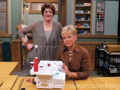 Nancy Zieman, Sewing With Nancy, & guest Barbara Goldkorn show how to sew using a serger sewing machine. Sew gifts, sew without patterns. easy sewing tips. Nancy Zieman, Sewing Hacks, Sewing Tutorials, Sewing Crafts, Sewing Tips, Sewing Ideas, Sewing Lessons, Sewing Art, Sewing Rooms