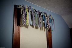 {how to} make a ribbon curtain, no sew! by Jodimichelle.com