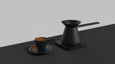 """""""Kaffa"""" is a Turkish coffee pot which is designed with a simple language that combines trend and tradition for elegant users. It has a characteristics of simple and user friendly design which can be fitted any kind of surroundings inside the home. Recharg…"""