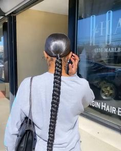 Hair Ponytail Styles, Weave Ponytail Hairstyles, Braids Hairstyles Pictures, Black Girl Braided Hairstyles, Sleek Ponytail, Baddie Hairstyles, Curly Hair Styles, Natural Hair Styles, Braided Ponytail