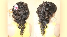 Свадебная причёска на тёмных волосах