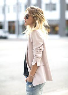 blush blazer.
