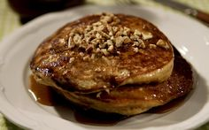 Lightly spiced and deliciously aromatic, a stack of these sweet potato pancakes is a perfect way to start the day. Fresh off the griddle, you could top a plate with maple syrup, but they're best drizzled with a rich, praline-like brown sugar butter sauce, the recipes courtesy of Highland Bakery in Atlanta.