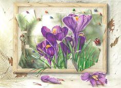 """COLORED PENCIL Magazine - Contests & Giveaways!: April CPM Art Challenge - #1304 """"Crocus"""""""