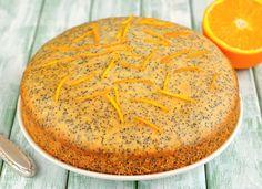 For Purim, make this cake in miniature loaf pans and pack 2 or 3 of them in each Purim basket. Almond Recipes, Vegan Recipes, Vegan Food, Vegan Meals, Vegetarian Entrees, Vegan Keto, Healthy Meals, Vegan Vegetarian, Orange Poppy Seed Cake
