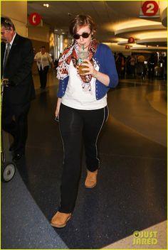 Celeb Diary: Lena Dunham @ LAX Airport