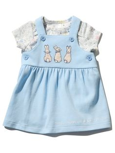 Vintage Disney fabric 3 Months Baby Pinafore 2 in 1 dress size 62