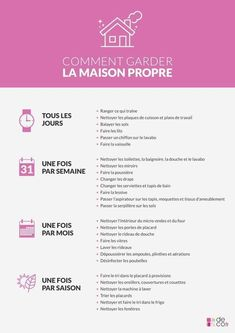 Comment garder sa maison propre – home acssesories Organization Bullet Journal, Diy Organisation, Household Organization, Organising, Limpieza Natural, Flylady, Home Management, Better Life, Clean House