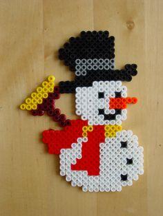 Sneeuwpop oranje