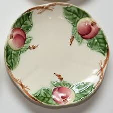 Image result for peach decorations ceramic dishes