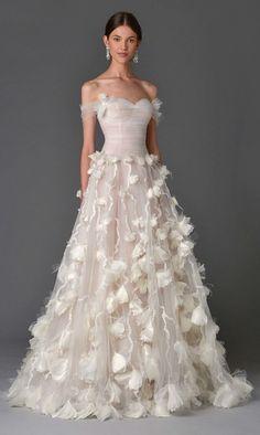 Wedding dress idea; Featured Dress: Marchesa