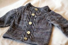 Sunnyside Baby Cardigan, free top down PDF Pattern designed by Tanis Lavallée